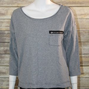 Cable & Gauge Large Grey Sweater